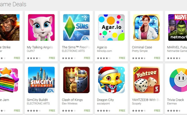 57 Freemium Games From The Google Play Store Come With As