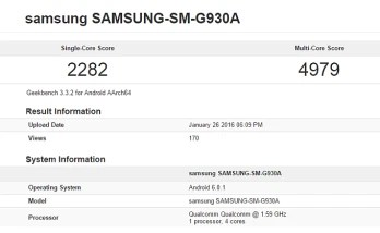 The AT&T version of the Samsung Galaxy S7 spotted on Geekbench