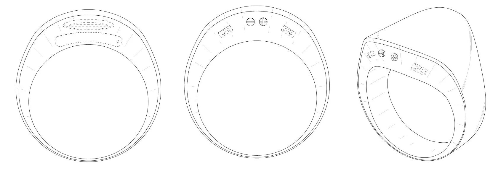 Patent sketches show Samsung is developing a smart ring