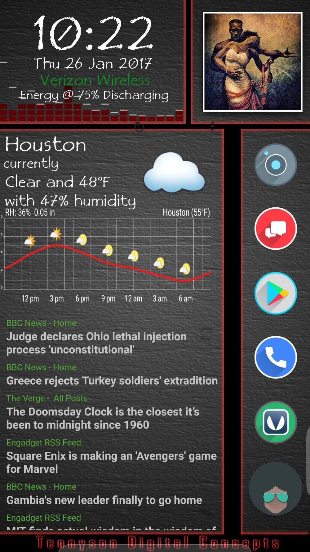 ... VU Meters Music Meters / Visualizer, Velur Icon Pack Main Icons,  CircleLauncher Pro, Retrorika Icon For Circle Launcher, Simple RSS Widget  News Feeds.