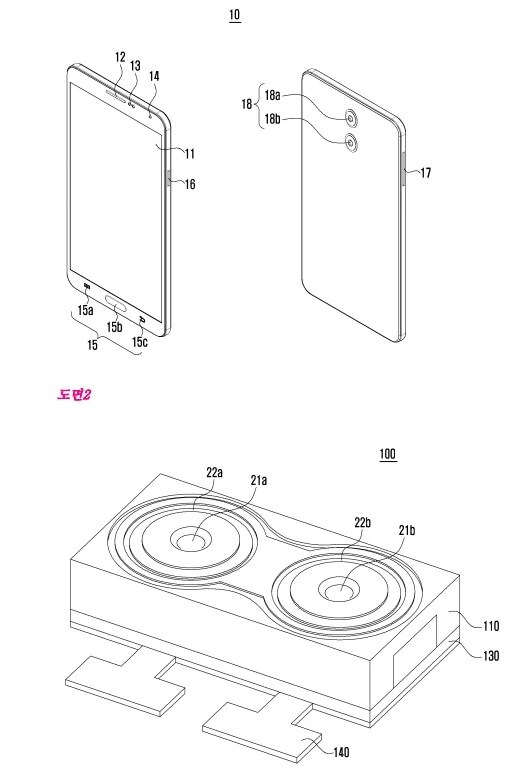 Samsung patents elaborate dual camera module, circling the