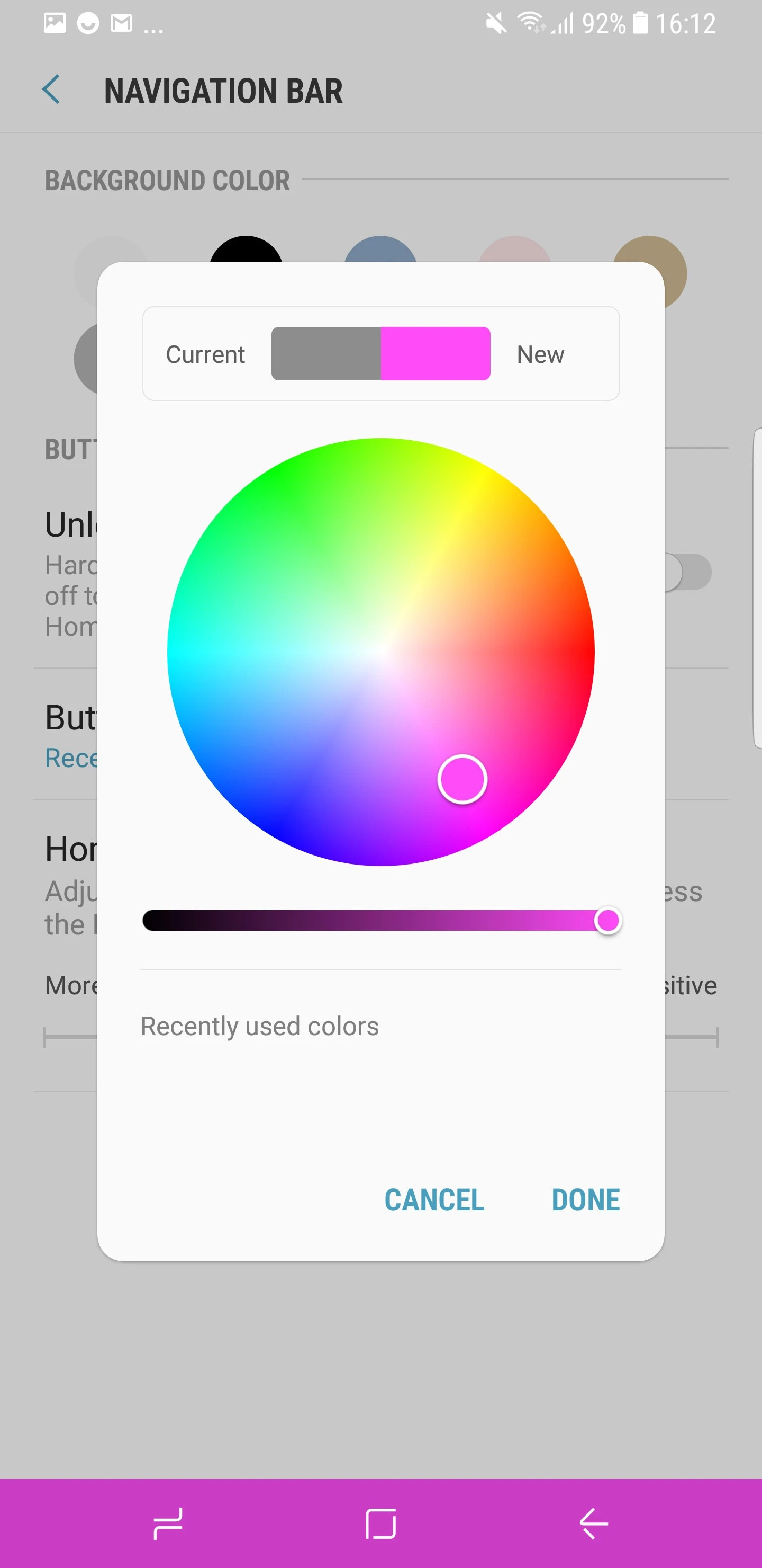 hight resolution of the color wheel that we saw on the s8 s8 seems to be gone for