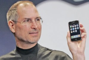 A moment frozen in time; Steve Jobs introduces the iPhone in 2007