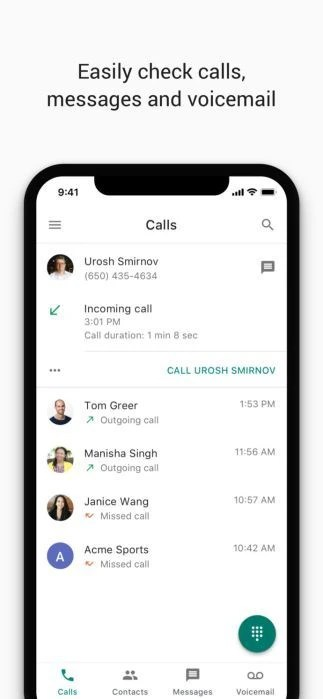 Google Voice for iPhone updated with new design, Contacts