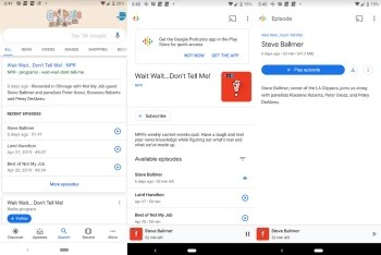 Listen to podcasts directly from Google Search on iOS and Android