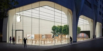The Brussels Apple Store is one of 510 brick and mortar Apple Stores worldwide - Apple to reopen 100 brick and mortar stores in the states this week