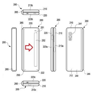 ... based on illustrations from a Samsung patent application: you won't like these renderings of Samsung Galaxy Fold 2