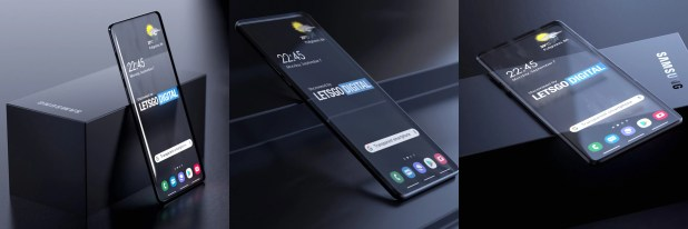 Photos courtesy of LetsGoDigital and 3D artist Giuseppe Spinelli - Samsung patented transparent smartphone design