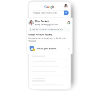 "Google tells a Google Assistant user when he has a security issue with his Google Account.  - Google adds new ""High visibility"" Security alerts"
