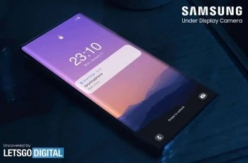 Screen grab from Samsung video shows what could be the Samsung Galaxy Note 21 using UPC technology - Samsung files to trademark name for its cool new Galaxy Note 21 feature