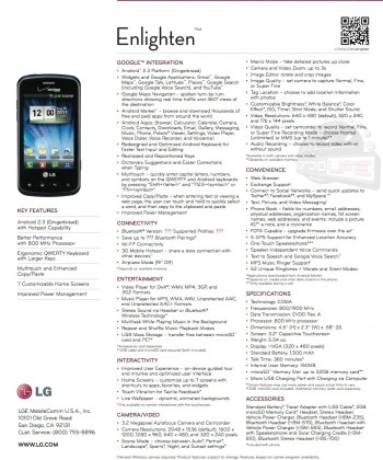 LG Enlighten leaks as an entry level Android for Verizon