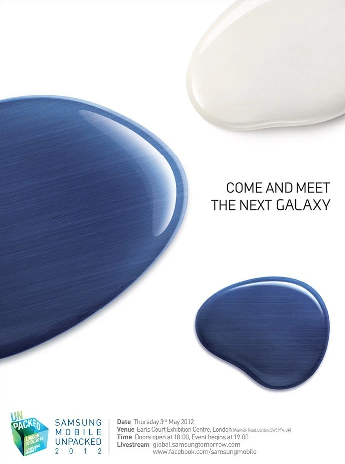 "Samsung to reveal ""the next galaxy"" May 3 in London, Galaxy S III launch?"
