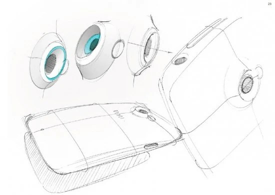 HTC shows off early design sketches for the HTC One X+
