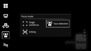 Camera interface - Sony Ericsson Xperia pro Review