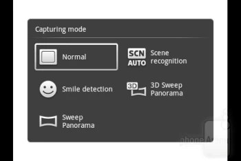 Camera interface - Sony Ericsson Live with Walkman Review