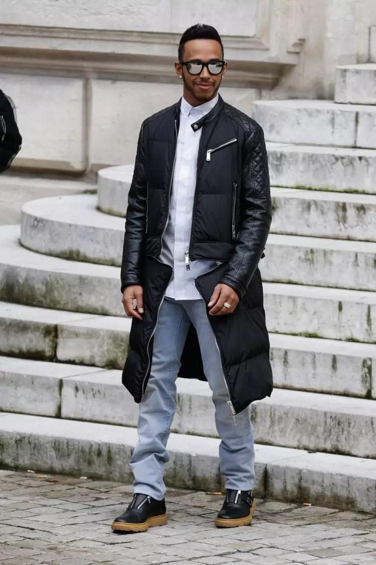 Lewis Hamilton  Les people aux dfils fashion week automnehiver 20162017 de New York