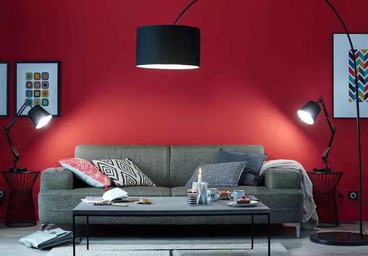 Des couleurs chaudes sur les murs du salon  Journal des Femmes