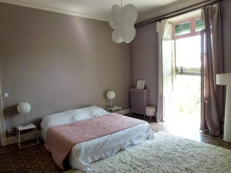 La chambre parentale au doux gris ros  Visitez la maison