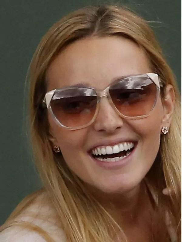 Jelena Ristic rayonnante pour Djokovic