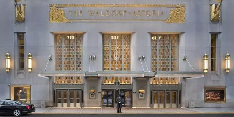 L'hôtel Waldorf-Astoria
