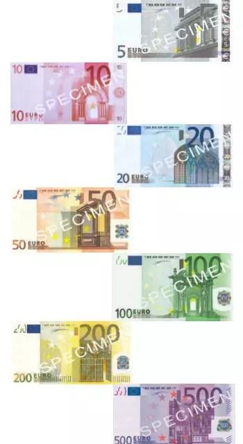 les billets en euros en vigueur en 2011 dessinés par robert kalina.