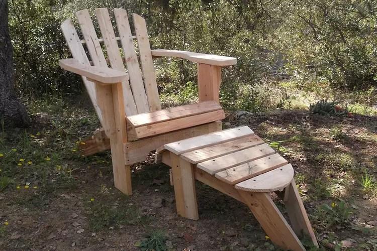 Bricolage amenagement interieur meubles en palette fauteuil de jardin - Plan chaise de jardin en palette ...