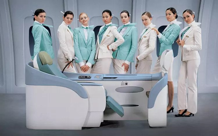 Korean Air menthe  leau  Les plus beaux uniformes dhtesses de lair  Linternaute