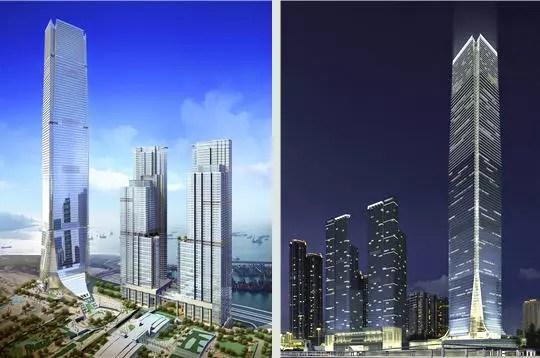 International Commerce Center un gant  HongKong  Les 10 tours les plus hautes du monde