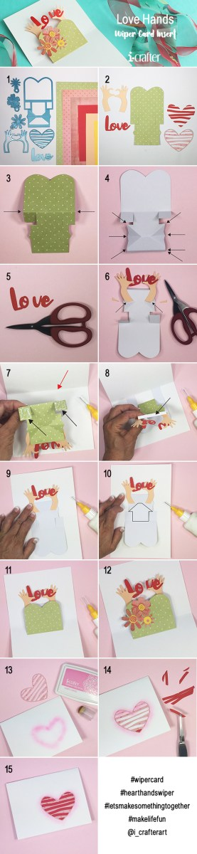 Love Hands wiper card
