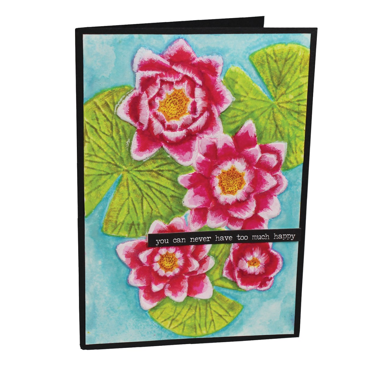 Water Lily Dimensional embossing folder