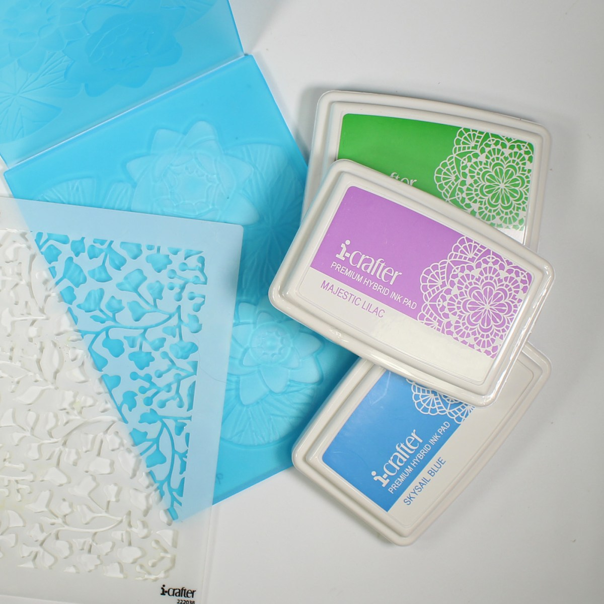 Embossing folders, stencils and inks