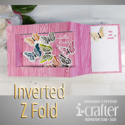 Inverted Z Fold Shadowbox Card