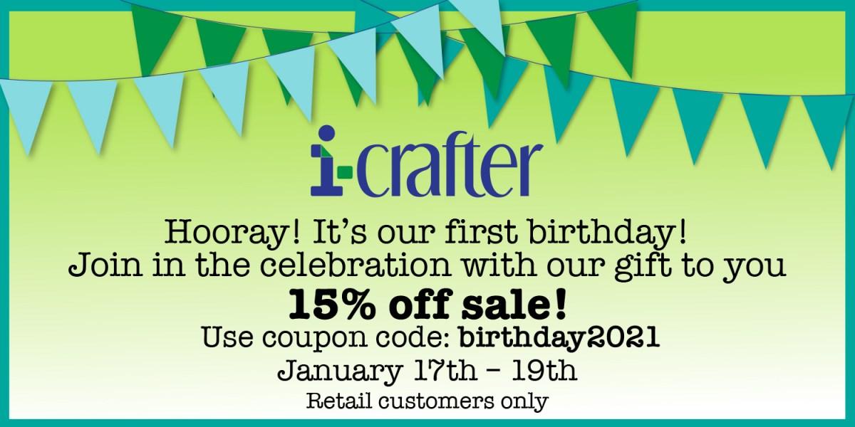 i-crafter Birthday Sale