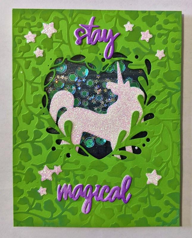Unicorn Shaker Card