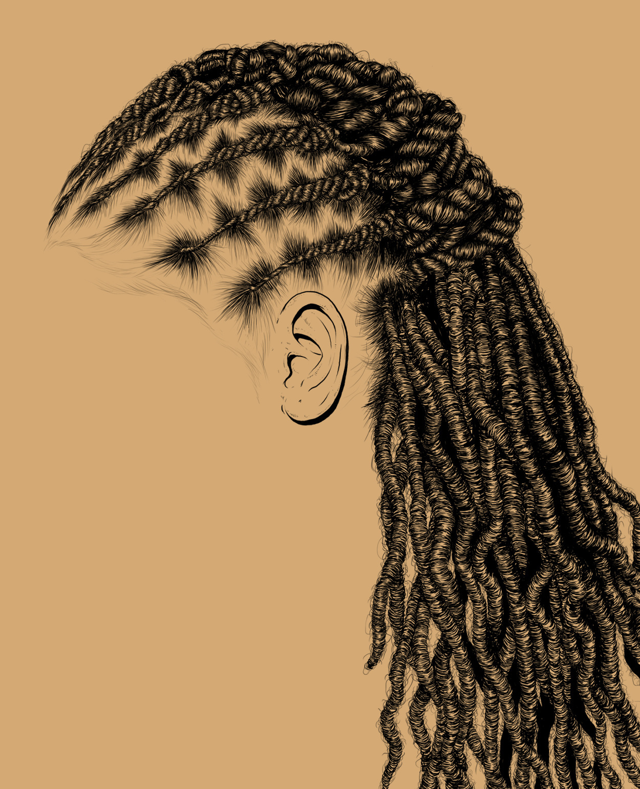 Intricate Illustrations Of Black Women Hair