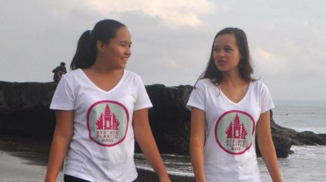 ByeBye Plastic Bags Bali Melati Wijsen and her sister IsabelWijsen from Bali (Indonesia), founders of the project 'ByeBye Plastic Bags'.