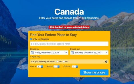 Click here to book a hotel in Canada.