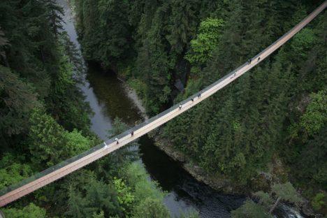 Canada: Capilano Suspension Bridge, Vancouver.