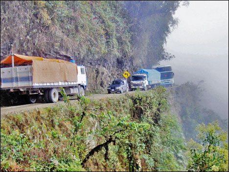 Dangerous Places Tourists death-road-bolivia