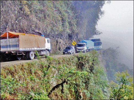 Dangerous Places Tourists death-road-bolivia