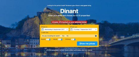 Hidden tourist spots Dinant Belgium