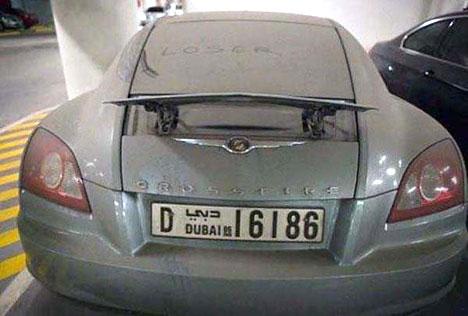 Dubais abandoned cars: Chrysler