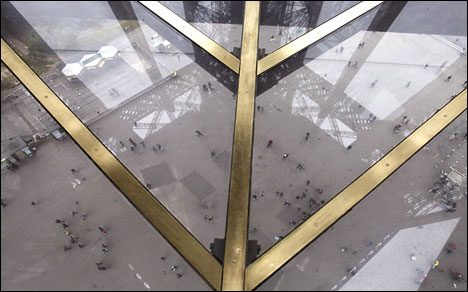 Eiffel Tower, glass floor