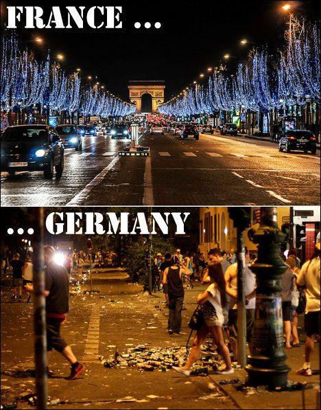 Nightlife in Paris vs nightlife in Hamburg.