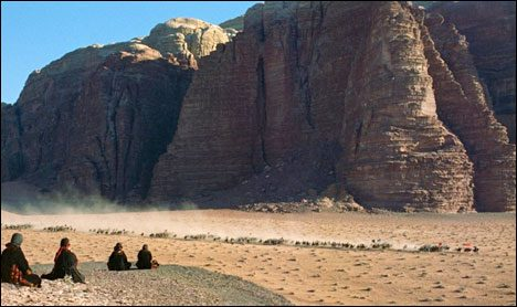 Wadi Rum, Jordan. Many famous Hollywood block busters were shot here.