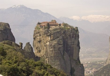 Underrated tourist spots Meteora Greece Monastery Agia Triada