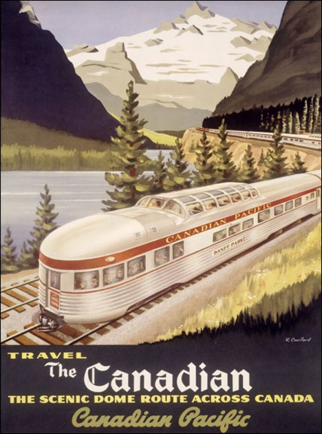 Vintage Tourist Poster - Canadian Pacific Railway
