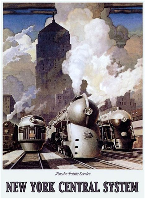 Vintage Tourist Poster - Railway New York