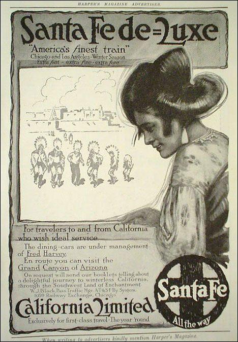 Vintage tourist poster Santa Fe Luxe