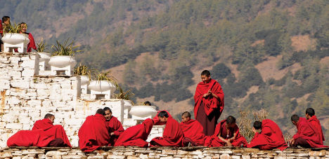 Bhutan Monastery monks worldexpeditions
